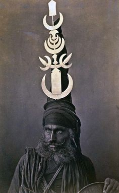Akali Sikh warrior wearing the distinctive Akali turban, India, about 1860.  The Akali army was called the Akal Sena or Akal Fauj but was informally known as the Budha Dal or army of Baba Budha Ji. Its primary function was to defend Sikhism and all who sought the protection of the Sikhs from the then oppressive Mughal empire which had tortured and executed the fifth Guru, Arjandev. It was his son, Akali Guru Har Gobind,  who engaged the Mughal forces in four battles and gained four…