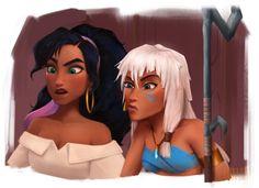 Wreck-It-Ralph Rejected Princesses (Fan Art), Grace Kim Esmeralda Disney, Disney Belle, Disney Pocahontas, Princesa Tiana Disney, Next Disney Princess, Kida Disney, Disney Au, Disney Princess Fashion, Disney And More