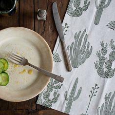 Ensemble de deux serviettes Cactus - vert