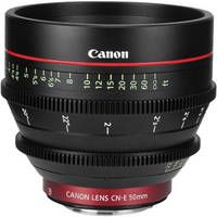 Canon CN-E 50mm T1.3 L F Cine Lens T1.3, Available in EF mount. (Insurance Required.) Rent all Six for $250/day. $50/Day $150/7 Days