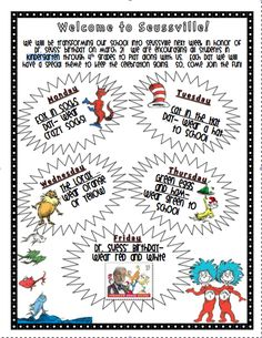 First with Franklin: Dr. Seuss Week