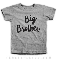 Lil Brother. White Shirts are 100% Cotton. Heather Grey Shirts are 90% Cotton, 10% Polyester. All Shirts are printed in the USA.