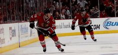 1988 love.  Kane and Toews in near perfect synchronization.  I seriously love when they are on the ice together.