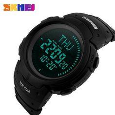 2017 SKMEI Outdoor Sports Compass Watches Hiking Men Watch Digital LED Electronic Watch Man Sports Watches Chronograph Men Clock