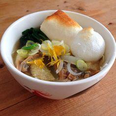 にゅー麺(^ ^)  玉ねぎ 松山あげ お餅 ねぎ ゆず  美味しい - 31件のもぐもぐ - にゅー麺でお昼 by nishimakigohan