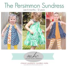 Persimmon Dress and Top: PDF Pattern by by MouseHouseCreations