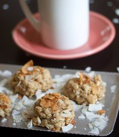 Peanut Butter Coconut Cookies~Vegan & Gluten Free..i'm sure you could make these the 'normal' way & they'd be equally as awesome