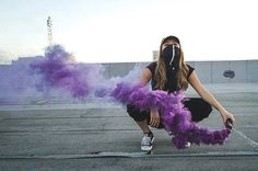 Smoke Bomb Photography, Tumblr Photography, Creative Photography, Portrait Photography, Capture Photography, Rauch Fotografie, Gangster Girl, Smoke Art, Colored Smoke