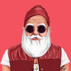 Santa Claus – HIPSTORY by Amit Shimoni illustration