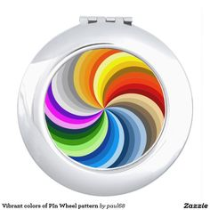 Vibrant colors of PIn Wheel pattern Vanity Mirrors