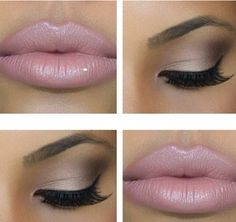 Nude-pink -naked- LOVE this look!