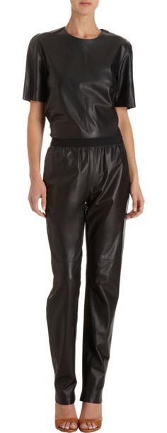 Maison Martin Margiela Leather Track Pant at Barneys.com