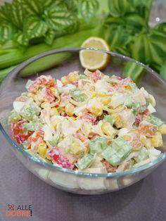 Pasta Salad, Potato Salad, Salads, Healthy Eating, Potatoes, Healthy Recipes, Ethnic Recipes, Food, Crab Pasta Salad