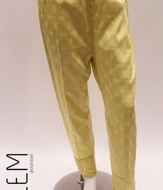 JT-0031Light Gold Silk Trouser - Jeem Eid-ul-Adha Collection 2016