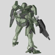 """GNX-803T GN-XIV standard w/ beam rifle and shield (aka GN-XIV, pronounced """"Jinx Four""""), is the fourth generation successor of the GN-X series featured in Mobile Suit Gundam 00 The Movie -A wakening of the Trailblazer-. It is deployed by the Earth Sphere Federation Army during the ELS Conflict. Back"""