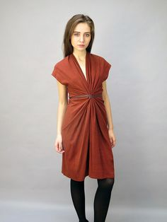 Tempest Dress in Rust - Kaight