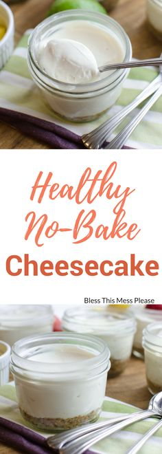 Healthy No-Bake Cheesecake ~ This Healthy No-Bake Cheesecake is free of eggs, gluten, and refined sugar, while still tasting exactly like traditional cheesecake!