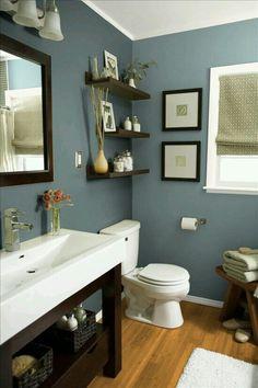 Shelves Over Toilet Guest Bath Idea