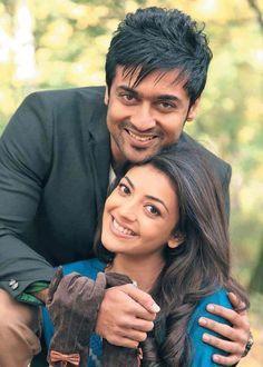 Kajal Aggarwal and Suriya in Maatraan