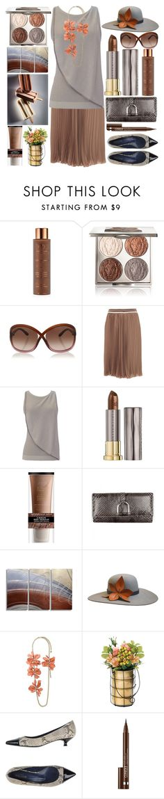 """Chocolate Brown"" by grozdana-v ❤ liked on Polyvore featuring Vita Liberata, Chantecaille, Tom Ford, Blugirl, Emporio Armani, Urban Decay, Alterna, Gucci, The Season Hats and Lanvin"