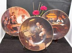 Norman Rockwell plates , limited edition collectors plates from the Rockwell Light Campaign , 1980s by MikesNicknacks on Etsy