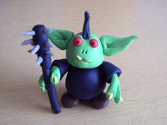 The lady of blue and green loves the Goblin by Florence on Etsy