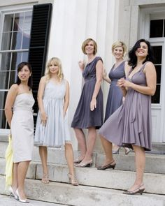 "See the ""Bridesmaids' Dresses"" in our A Casual Gray, Yellow, and Ivory Wedding Outdoors in Virginia gallery"