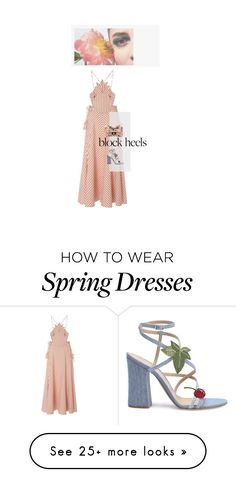 """personality hints"" by salt-and-pepper on Polyvore featuring Rosie Assoulin and Gianvito Rossi"