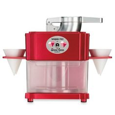 Waring Pro® Pro Professional Snow Cone Maker -   BedBathandBeyond.com I love snowcones and this is all i want for christmas!! I need it!!!!