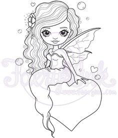 Arielle Love Faery Fairy Fantasy Hearts Valentines by FaeryInk