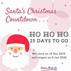 Santa's Christmas Countdown! Christmas is coming🎄  Only 25 days to go 🎉  Have you been naughty or nice?
