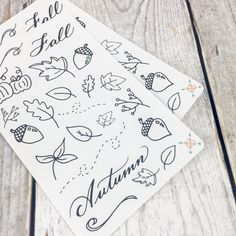 Fall Doodle Stickers by BohoBerryPaperie on Etsy