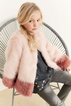 Buy Pink Dipped Faux Fur Coat (3-16yrs) online today at Next: United States of America