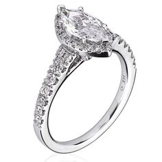 acb5e215a 14kt White Gold (H/SI) Ladies Engagement Ring From the Luminaire Collection  by Scott Kay. Pear Shaped Diamond ...