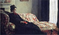 Claude Monet, Meditation, Madame Monet Sitting on a Sofa, 1870-1871.