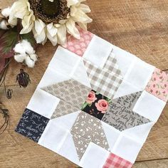 You will love this charming little quilt inspired by flower fields in the country. Country Flowers is perfect for hanging on a wall, putting on a table, or giving to a friend. This fat quarter friendly PDF pattern includes full color instructions and diagrams. The finished quilt