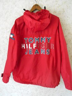 Vtg 90s Tommy Jeans HIlfiger Red Sailing by CoolDogVintage on Etsy