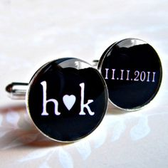 these would be cool to wear every wedding anniversary with the date