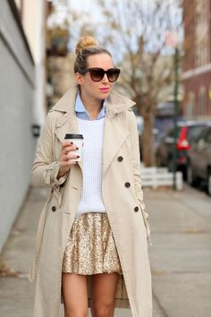 glitzy skirt outfit
