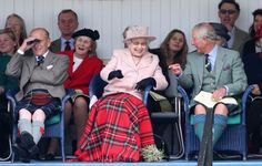 Royals Watching the Highland Games in Braemar Scotland