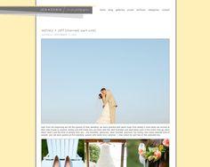 Web design proof - design option for blogsite - for Jen + Chris [www.jenpluschris]. If pinning, please credit © the-summerhouse.com