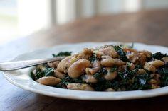 Pan-fried Corona Beans & Kale