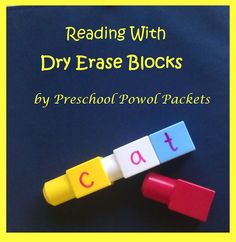 Reading Fun With Dry Erase Blocks
