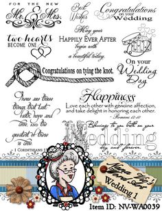 Wedding 1 Word Art, Sentiments, Photography Overlay, Digital Stamp, Scrapbook, Instant Download  ID:NV-WA0039 By Nana Vic on Etsy, $3.08 CAD