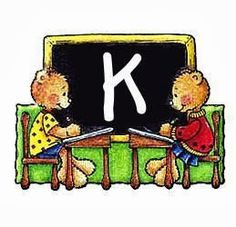 Alfabeto de ositos en la escuela. | Oh my Alfabetos!