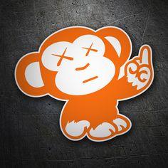 Pegatinas: Mono naranja JDM #coche #pegatina #sticker