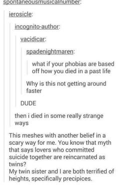 Okay so I'm afraid of Outer Space, Clowns and Social Situations... That's one hell of a way to die