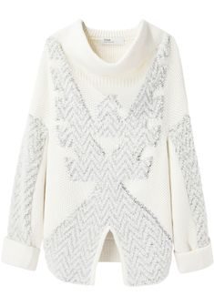 Toga Archives / Geometric Knit -  love the textural play with the boucle pattern against the flat smooth yarn