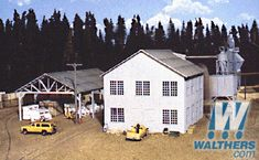 """Walthers - Planing Mill and Shed - Kit - Main Building: 6 x 8 x 5-3/4""""  15 x 20 x 14.3cm - 933-3059"""