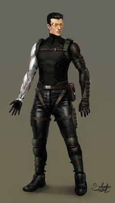 Cyberpunk Character Concept by ~SaturnoArg on deviantART